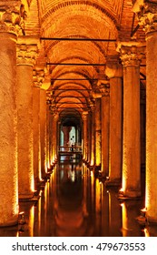 The Basilica Cistern (Turkish: Yerebatan Sarayi - Sunken Palace), is the largest of several hundred ancient cisterns that lie beneath the city of Istanbul, Turkey.