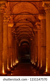 Basilica Cistern (Yerebatan Sarnici) - ancient underground water reservoir in Istanbul, Turkey