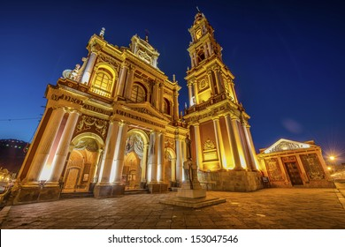 Basilica and Convent of San Francisco in the city of Salta, Argentina