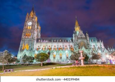 The Basilica del Voto Nacional in Quito, Ecuador