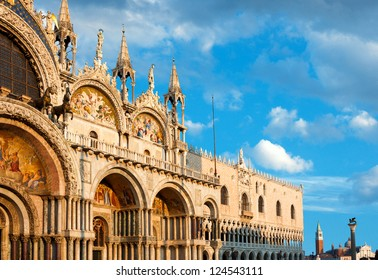 Basilica di San Marco under interesting clouds, Venice, Italy