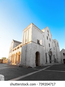 Basilica di San Nicola in Bari, Italy where most of the relics of Saint Nicholas are kept today. Because of the many miracles he is also known as Nikolaos the Wonderworker.