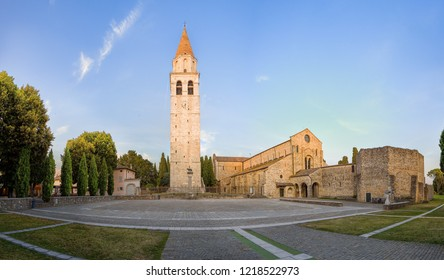 Basilica di Santa Maria Assunta in Aquileia, ancient Roman city in Italy. Patriarchal Basilica of Aquileia build in 11th century. Important christian sight from Roman Empire. Northeastern Italy.