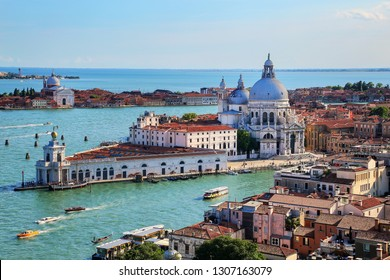 Basilica di Santa Maria della Salute on Punta della Dogana in Venice, Italy. This church was commisioned by Venice's plague survivors as thanks for salvation.