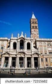 Basilica di Santa Maria Maggiore at summer day in Rome, Italy