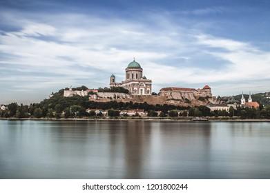 Basilica of Esztergom on the bank of river Danube