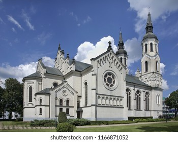 Basilica of Heart of Jesus in Augustow. Poland
