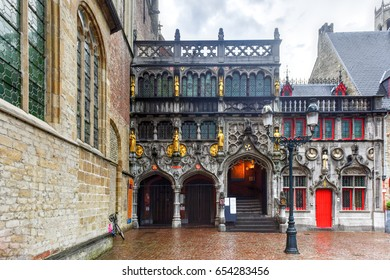 Basilica of the Holy Blood in Bruges, Belgium, UNESCO World Heritage Site