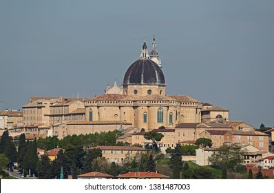 The basilica of the holy house or santuario della santa casa in Loreto province of Ancona in Le Marche Italy a place of pilgrimage for Catholics and twinned with Lourdes by Ruth Swan
