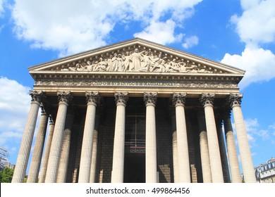 Basilica of Madeleine in Paris