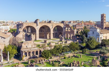 The Basilica of Maxentius and Constantine in the Roman Forum, Rome, Italy