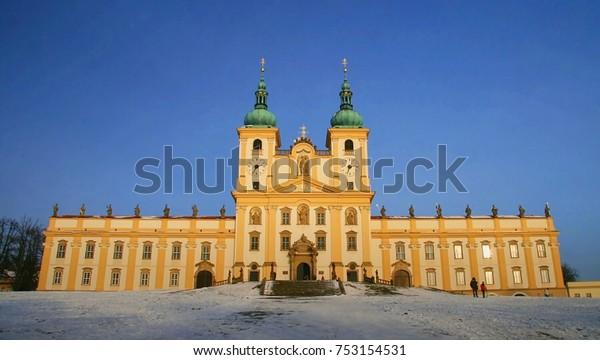 Basilica minor on the Holy Hill near Olomouc in the Czech Republic basilica, church, pilgrimage, hill, Olomouc, Czech Republic, history,