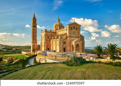The Basilica of the National Shrine of the Blessed Virgin of Ta' Pinu at Gozo, Malta