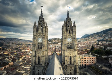 Basilica of the National Vote in Quito, Ecuador