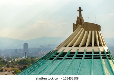 Basilica of Our Lady of Guadalupe in Mexico City, one of the most famous Catholic shrines in Latin America