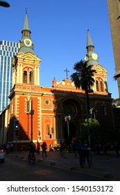 BASILICA OF OUR LADY OF MERCY, SANTIAGO, CHILE - A street view of The Basilica of Our Lady of Mercy in Santiago.