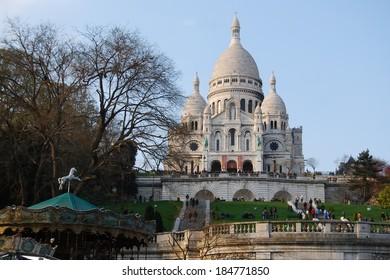 Basilica of Sacre Coeur cathedral, Paris