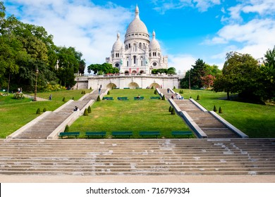 The Basilica of the Sacre Coeur in the hill of Montmartre in Paris