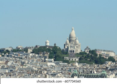 Basilica of Sacre Coeur in Montmartre,  Paris, France