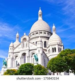 Basilica Sacre Couer at Montmartre in Paris, France