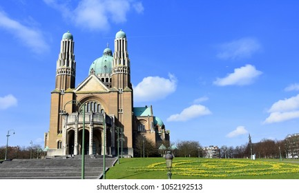 basilica of the sacred heart or koekelberg, Brussels, Belgium