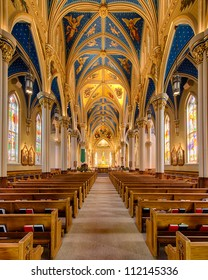 Basilica of the Sacred Heart on the campus of the University of Notre Dame in South Bend, Indiana