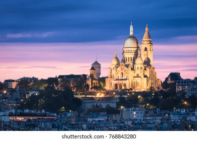 The Basilica of the Sacred Heart (Sacre Cœur Basilica). Montmartre, Paris, France