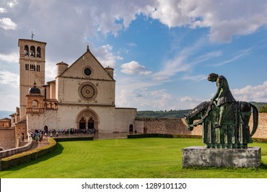 The Basilica of Saint Francis of Assisi is the church of the Roman Catholic Order of Friars Minor Conventual in Assisi, a town in the Umbria region in Italy, where Saint Francis was born and died.