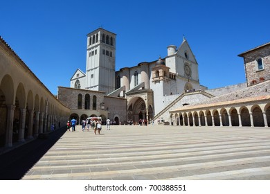 Basilica of Saint Francis of Assisi, Assisi, Umbria, Italy - July 2017