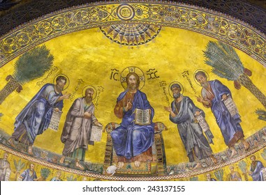 Basilica of Saint Paul Outside the Walls is one of Rome's four ancient major basilicas or papal basilicas. Apse mosaic (1220)