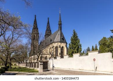 Basilica of Saint Peter and Paul at Vysehrad, Prague, Czech republic.