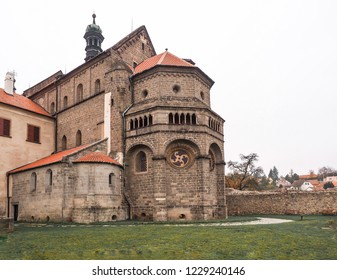 Basilica of Saint Procopius in Trebic. UNESCO heritage site. Czech Republic, Europe, November 8, 2018.