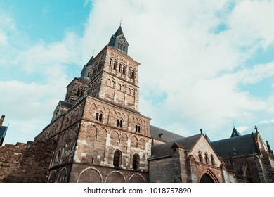 Basilica of Saint Servatius the historic travel attraction in Maastricht, Netherlands.