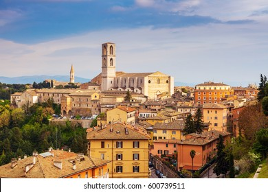 Basilica of San Domenico in Perugia. Perugia, Umbria, Italy.