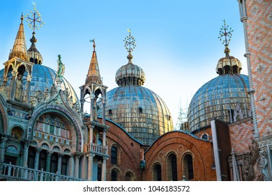 Basilica San Marco. Early morning in square, Venice, Italy.