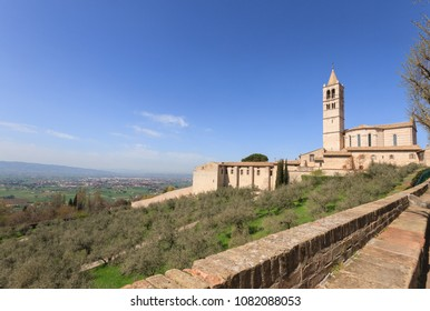 The Basilica of Santa Chiara in Assisi, Italy