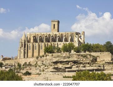 Basilica of Santa Maria de la Seu in Manresa, Catalonia (Spain). The architect was Berenger de Montagut.