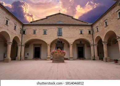 basilica of sant'ubaldo in the fortress of gubbio umbria italy September 10, 2020