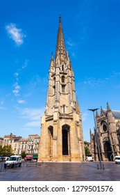 Basilica of St. Michael Bordeaux is a flamboyant gothic church in Bordeaux city in France