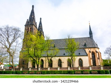 Basilica of St. Peter and St. Paul in Vysehrad (Upper Castle), Prague, Czech Republic