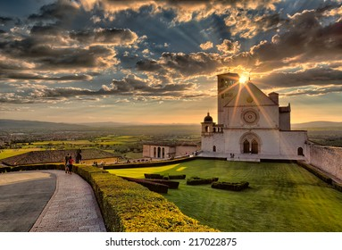 Basilica of St.Francis in Assisi , Umbria - Italy