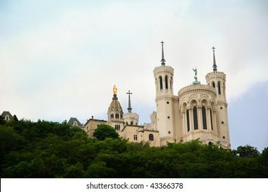 Basilique Notre-Dame de Fourvière in Lyon in France