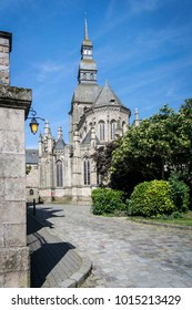 The Basilique Saint-Sauveur, church in the city of Dinan, Brittany, France