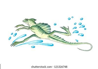 Basiliscus (genus) or basilisks, Jesus Christ lizards, Mystical lizards, Devil's lizard. Basilisks have the unique ability to walk on water.