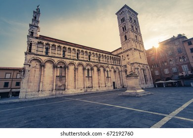 Basillica San Michele in Lucca,Tuscany,Italy.
