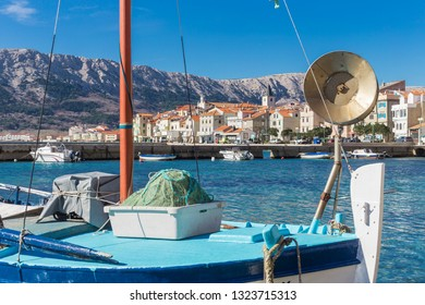 Baska is situated in a wide bay with pebble beaches on the southeast of the island Krk, surrounded with vineyards and fertile fields, mounted by Treskavac mountain pass and its peaks Obzova and Hlam