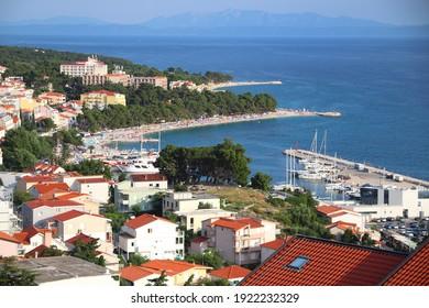 Baska Voda vacation resort, Croatia. Resort town in Dalmatia. Makarska Riviera. - Shutterstock ID 1922232329