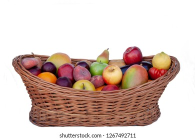 Basket with assorted fruit