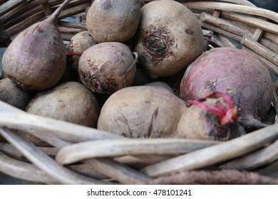 Basket of beets