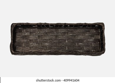 Basket black isolated on white background This has clipping path.
